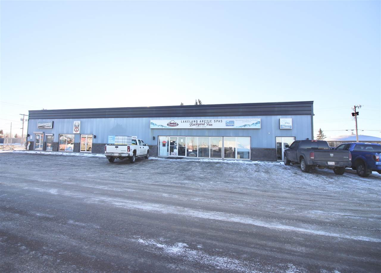 The PRIME retail location in Bonnyville!!! Located at the intersection of Highways 28 and 41. Traffic count in the thousands every day! 7650 square feet with a multitude of retail options. Excellent parking fronting the entire building. Lease a portion or the entire building....Location location location says it all. Don't pass up this rare opportunity for your business.