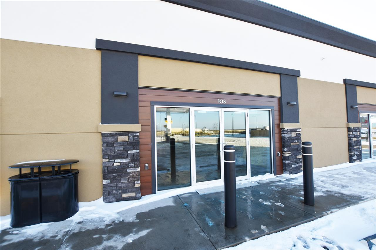 This lease space has great main street exposure and an unbeatable location, this is the only remaining retail bay in the west end retail plaza, Tim Hortons and the Shell gas station bring a steady flow of traffic to the premises daily. The exterior has a modern appeal with stucco and stone accents. This unit has 1800 sqft of wide open leasable space, the space is additionally complemented by 15' ceilings, bay is 30 feet wide by 60 deep, double doors at the rear allow access for shipping and receiving. Lots of windows allow plenty of natural light and parking space for customers out front of the building. Location, Location, Location make your move now!