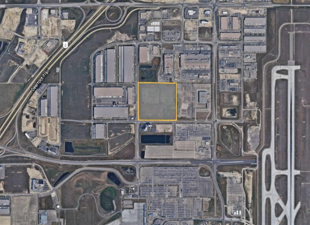 """Now's the time to get in on one of the few close in parcels of land left near the Calgary international  airport.This ( IG ) """" Idustrial General """" 37.31 acre parcel lends it's self to all kinds of possibilities .The attachments on this listing will give you a wide range of ideas including - hotels , restaurants , internet warehousing , parking lots , manufacturing and so on. If you can't find exactly what your looking for , than consider applying for rezoning . when you go to this property on the NE corner of 19 street and 100 th. avenue , you will notice 2 overpasses being constructed. One on airport trail and 19 st. that will eventually wind up coming out approximately one block south of the subject property and the second one on airport trail and Barlow trail just a few blocks away . Access will be phenomenal when completed . You can observe many different well established businesses already set up around the perimeter of this property. It can only get better. Please call me for more information .  Thankyou"""