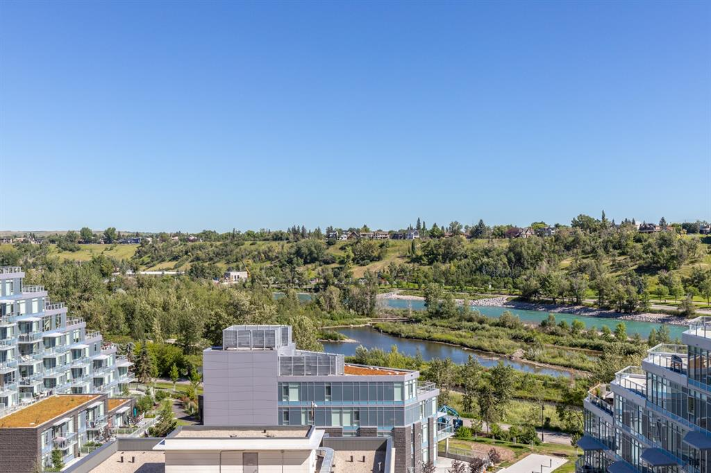W O W - THERE IS A BIG SALE GOING ON AT WATERFRONT! You can basically just head straight out to the expansive 150 sqft�patio to be captivated + sold on those river views! Once back inside, take in the nearly 1,100 sqft�corner unit that showcases 2 bedrooms�+ 2 bathrooms�+ den...and you know what else? Yes, 2 underground side by side parking stalls. Entertain in style with the gourmet kitchen boasting a gas range, stainless steel�+ integrated appliances, pantry, espresso cabinetry + large island. The master bedroom will impress with its continued river views, walk through closet and 5 piece ensuite bathroom. Host guests with your second bedroom and easily work from the home office!�Amenities galore at Waterfront: executive concierge, huge fitness facility, yoga studio, owner's lounge, indoor jacuzzi, steam rooms, movie theatre, car wash bay, visitor�parking and guest suite! A prime location that's mere minutes away from Prince's Island Park, river pathways, the�+15 walkway, office core, c-train and all the amenities you need to fulfill any evening out on the town.