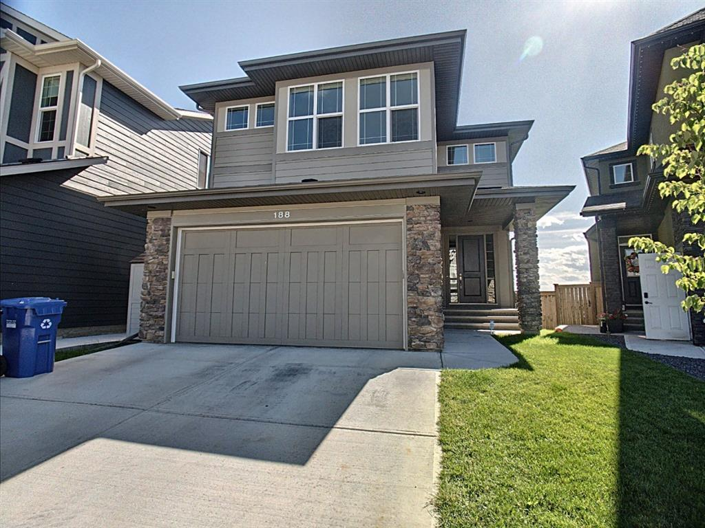 Modern 2015 ON THE RIDGE home with STUNNING PANORAMIC MOUNTAIN VIEWS & WALK-OUT ACCESS TO FISH CREEK PARK. UPGRADED KITCHEN: full height cabinetry, Kitchen Aid & Bosch Appliances, OVERSIZED 10? GRANITE ISLAND, quartz countertops, gas range, wall oven, undercabinet lighting. UPGRADED 9? Ceilings & 8? Doors. Two full stone gas fireplaces. WALK-OUT MAIN FLOOR & BASEMENT. 2017 GYM & STUDIO with sub floor. 2019 AC. Yard Irrigation. Custom Window Coverings. CUSTOM STORAGE. Triple pane windows. Gas line BBQ. Landscaped yards. MOUNTAIN VIEW MASTER SUITE & ENSUITE with DOUBLE vanity, OVERSIZED tub, stand-alone shower, and walk-in custom closet. Large Bonus Room with space for a home office. Enjoy nature with a 10 MIN WALK TO THE BOW RIVER. Cranston has schools K-9 in both systems. Seton has public high school. South Hospital, 2 YMCA, VIP Theatre, Restaurants and Library are 5 mins away.