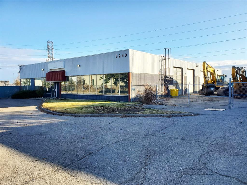 Rare Highfield freestanding building on 1.54 acres with ample yard space for sale or lease.  2,000sf of office with 8,120sf of shop/warehouse for a total building size of 10,120sf.  Conveniently located 10 minutes from the downtown core with easy access to Blackfoot Trail and Deerfoot Trail.  Includes multiple cranes, trench drain with sump, updated office space, 6 drive in doors (14x12) and 1 Dock level door, 400amp/600volt (TBV).  Approximately 2500sf of extra storage and loading space not included in the square footage.  Includes 850sf paint booth with an exhaust unit.  Roof replaced six years ago.  Additional yard space available for lease from Enmax.
