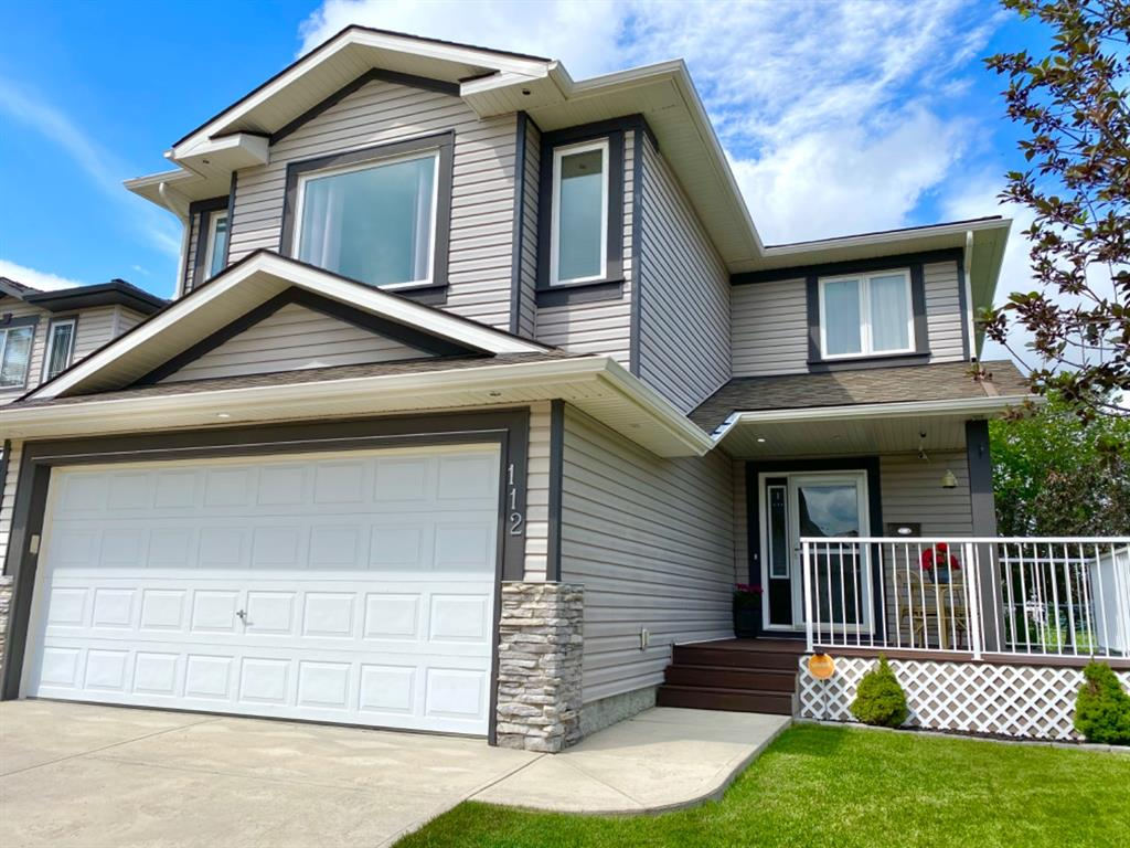 REDUCED $30,000.00 WOW!  This beautiful 2 storey in Woodside has over 2450 sqft of developed living space with lots and lots of upgrades!  An oversized lot with lots of space and beautiful landscaping.  Completely NEW exterior was completed on this home in the past couple years including (NEW Roof, NEW Siding, NEW Eaves, NEW rain gutters etc.).  Oversized 3 car driveway with an attached heated fully finished garage with shelving. Backyard features a low maintenance deck with gazebo and a NO maintenance composite front porch with custom built railing to enjoy those wonderful sunny days!  Main floor features NEW vinyl plank flooring and newer carpet throughout the home. Kitchen has many upgrades including stainless steel appliances, re-finished cabinets and countertops. Home has NEW light fixtures throughout, a beautifully renovated en-suite and main bathroom upstairs.  Renovated gas fireplace and a gorgeous custom mantle are featured in this large bonus room.  Enjoy everything this home has to offer and stay cool with Central Air Conditioning.  The basement is fully developed with a rec room, family room and a large 3 piece bathroom.  This beautiful home backs on to 12th hole tee box of the Woodside Estates Golf Course! Home is meticulously maintained, a must see and ready for you! Book your showing TODAY!