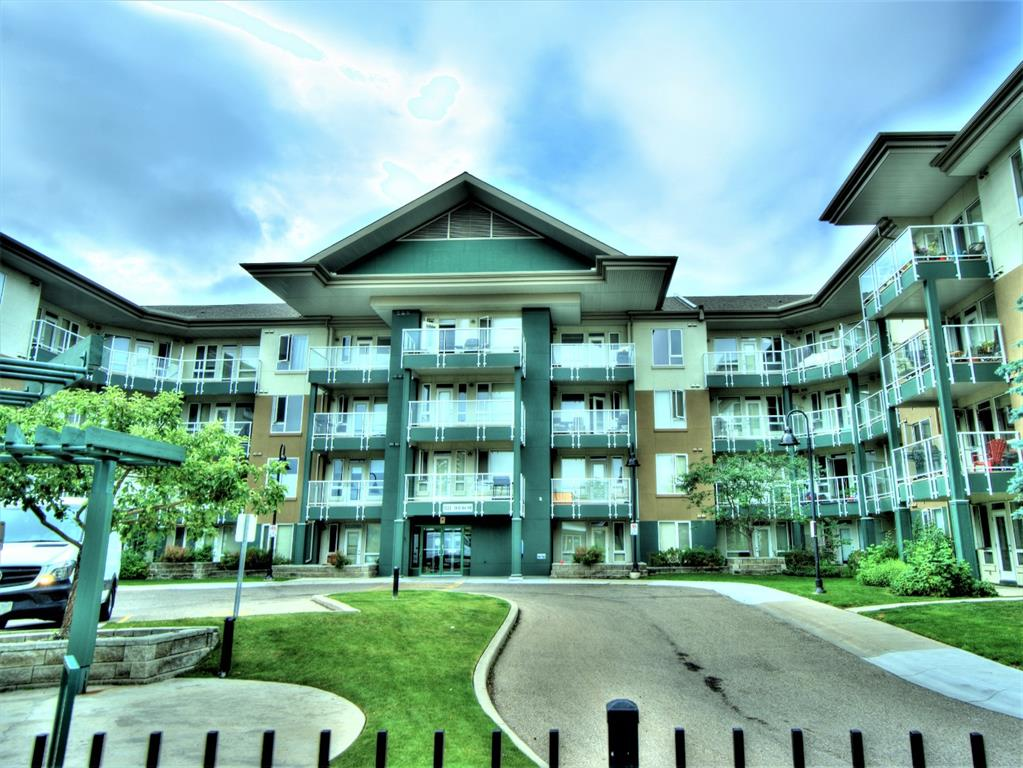 Student/Professional/Investor Alert!  Varsity Village is perfectly located, it is 1 block from the University of Calgary and about a  $12 cab ride to Kensington and about $18 to downtown.  This unit is freshly painted, has upgraded flooring, new kitchen backsplash and a large walk-in closet.  The kitchen has everything you need including a breakfast bar.  The open concept allows you to see from the kitchen to the dining room into the living room and finally out onto the large balcony which  is great for entertaining.  The balcony has a beautiful view of Nose Hill Park.  There is a fitness facility in the building, party room, and an outdoor courtyard with benches and the condo's own private green space to enjoy.  The underground parking is heated and in Calgary that is a luxury you don't want to be without.  Book your viewing appointment now before this great opportunity is sold!