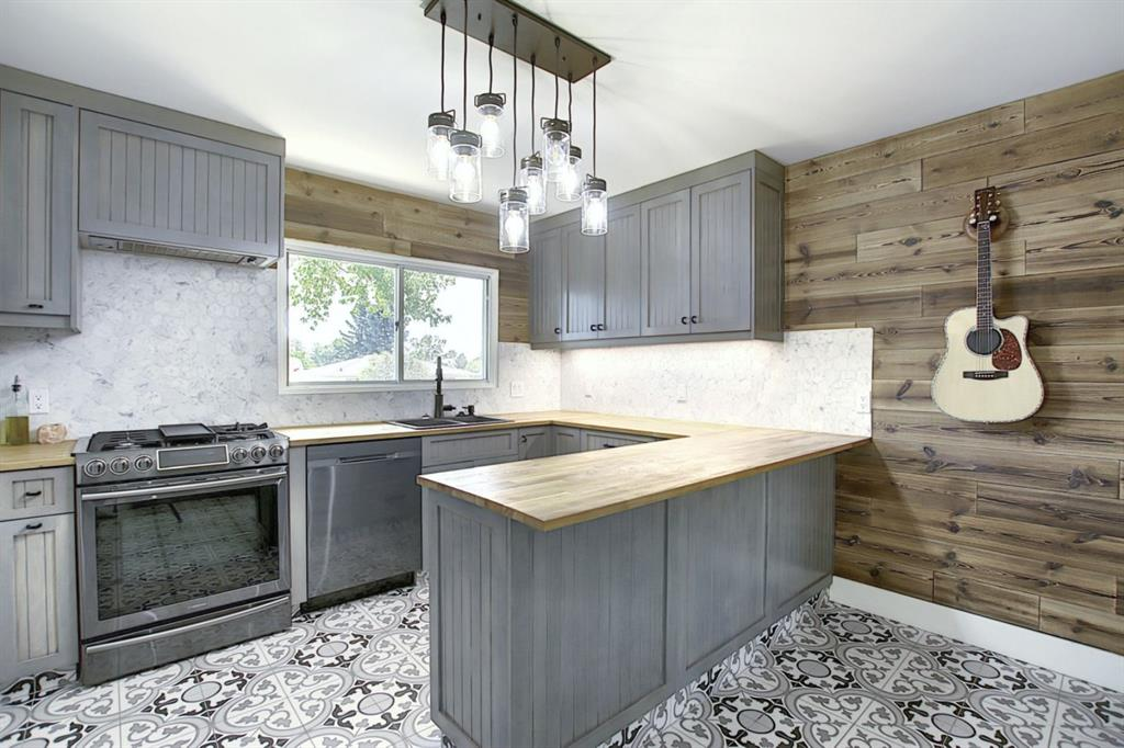 This newly renovated home has a stunning modern farmhouse feel. The kitchen is a chef/entertainers dream, including a gas range, with an open concept to the living/dining area. Downstairs consists of two additional bedrooms, a gorgeous bathroom, laundry and plenty of storage. The neighbourhood of Highwood is a hidden gem with large lots and Quiet, tree-lined streets. Surprisingly close to many amenities yet tucked away enough to make you feel at home.  Schools, parks, pools and outdoor rinks are plentiful.  Walking distance to neighbourhood restaurants, grocery stores, Coffee shops, Confederation and Nose Hill Park. Commuting is a breeze with easy routes to Downtown, SAIT, U of C, and both the Foothills and Children's hospitals. Quick access to Deerfoot Trail (Highway 2) and the Trans-Canada Highway as well as many Transit Options. With R-C2 zoning there are many options with this property for investment opportunity as well.