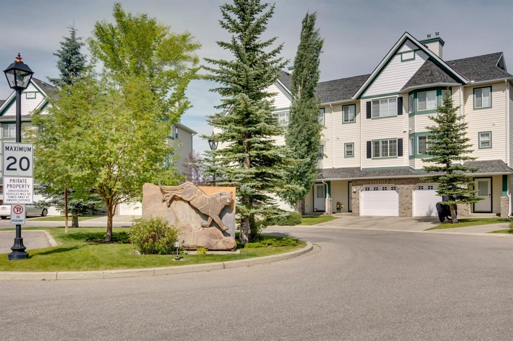 This unique 4-level split has over 1500 sqft. of developed space, attached garage and great outdoor space. The living room has large windows providing endless natural light, corner fireplace, vaulted ceiling that opens to the kitchen on the next level and access to the back deck. One level up hosts the bright and spacious kitchen featuring stainless steel appliances, breakfast bar island, a cut-out window that opens to the lower living room and bayed eating area. Sunshine filled spaces continue to the upper level. Large master bedroom with walk-in closet, 2nd generously sized bedroom and lofted den space ideal as a playroom, den or can be easily converted to a 3rd bedroom are on this level. The rec room in the finished basement is a great media area or guest space while the large back deck and yard have plenty of room for summer barbeques and lots of grassy play space for the kids. Located in a phenomenal location in desirable Cougar Ridge walking distance to schools and shopping and just a quick drive to West Side Rec Centre, Aspen Woods amenities and Winsport.