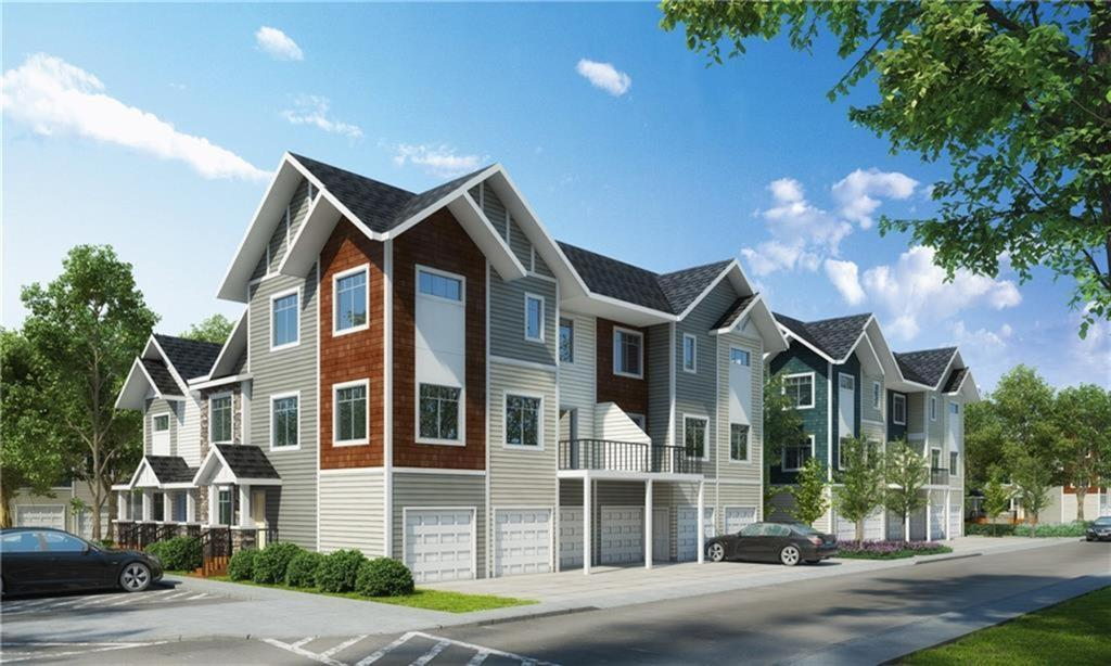 $274,900!!! UPGRADES are STANDARD at Slokker Homes! The Canal?s Townhomes are located just off 8th in central Airdrie. The Marcus C is a 1500 sqft 3 bedroom CORNER UNIT with attached garage (& full driveway), & is a quick walk to the Canal's walking/bike paths & retail shops! The 9? main floor of this home is WIDE OPEN with lots of natural LIGHT! The MODERN kitchen has SS appliances, SOFT-CLOSE doors & drawers, QUARTZ counters, & HUGE ISLAND where your guests will gather to admire your culinary skills. Did we mention $274,900? A large dining area is great for entertaining or migrate to the 80 sqft BALCONY & enjoy a warm summer evening. The spacious family area is perfect to kick back, read a book or watch some Netflix. Upstairs you'll find the master with walk-in closet & ENSUITE, +2 more bedrooms & main bath (both bathrooms have QUARTZ counters), topped off with an upstairs laundry (laundry pair included). ALL THIS FOR JUST $274,900!!!  *SHOW HOME HOURS 12-5 Sat, Sun, -8 Tue - Thur.