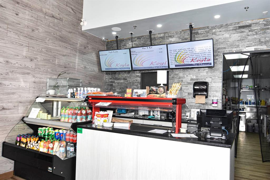 Take - Out- Restaurant + Meat Shop for Lease..(1257  square feet) in new area in the N.W. quadrant of the city. All newer equipment--purchase price was 215,736 + gst. This is a commercial condo bay with two ready made businesses with an easy conversion to one business if you so choose as the interior wall is easily removable. If you want to build a staircase to the space above that is also possible as the space above is for sale as well.