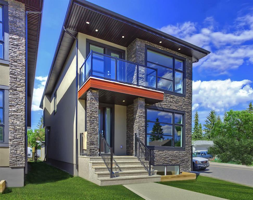 Welcome to North Glenmore! This spacious and well finished detached infill was build with the urban family in mind ; featuring just over 3500 total square feet,  4 Total bedrooms with 3 ensuite baths, and a total of 4.5 bathrooms. This elegantly finished infill also come complete with a spacious home office on the main floor, and plenty of room for a home gym, media and games room! The sunny corner location allows for plenty of natural light to flood into the main floor, and the upstairs bedroom; and the roomy open floor plan is perfect for entertaining! The gourmet kitchen features top fo the line appliances, and is easily accessible from the back patio, perfect for bbq season! The oversized garage makes sure you don't have any issues storing your vehicles. This home sits just minutes from golf, cycle tracks, running paths, Sandy Beach, and all of the amenities Marda Loop has to offer. Call today to book a private showing!