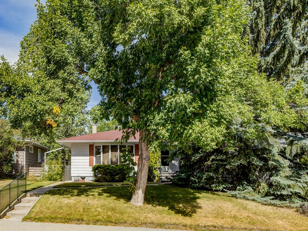 This classic St Andrews bungalow sits on a beautifully treed street near the Foothills Hospital. On the market for the first time, it is in original and well-maintained condition and sits on a lovely 53'x118' lot. Mid-century modern enthusiasts could turn it into a gem with a little updating or, given the location in St. Andrews, other buyers may want to build another grand home here.  It works easily as a holding property as it is a very rent-able home in a great location near the Foothills Hospital and the University of Calgary.  Bright living room, kitchen with dining area, hardwood floors under carpet, 3 bedrooms & 3-piece bath on main, 3 bedrooms, family room and 3-piece bath  on lower level. Single oversized garage and carport.  The Foothills Hospital is just 2 blocks away but isn't visible from the home. Toronto Crescent is just 3 blocks away with great city, river and mountain views - great area for those who love to walk! A second floor at this location would likely achieve some great views as well. Move in and restore this mid-century gem, rent it for future investment options, or build your dream home - this property presents several valid options. Come have a look today!
