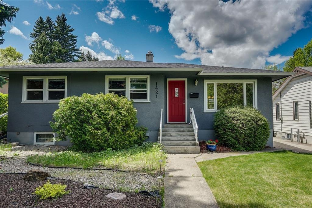 Have you ever wanted to own an (illegal) suited bungalow on a quiet tree-lined street with a west back yard? This home is perfect for a buyer that wants to live up in a charming & cozy space & rent downstairs as a mortgage helper. Here?s an example of what it could look like: With record low interest rates & a minimum amount down of $26,990, your monthly payment could be less than $1,200 per month as the illegal suite below can easily rent for $950 per month & your total mortgage payment of $2,131 - $950 = $1,181. With a 20% down payment of $103,980, your monthly payment could be $604 per month! ($1,554 - $950 = $604). The current owner loved living here! Just steps to the LRT, close to all amenities, MRU, Foothills Hospital & easy access to downtown. This home has been renovated throughout the years & is ready to move into & make your home. The main level presents hardwood floors in the living & dining rooms & lovely, renovated kitchen finished with dark counter tops, contrasting glass tile back splash, clean white cabinets & stainless steel appliances. There are also 3 spacious bedrooms (one of which would be ideal for a home office) & a 4 piece bath on the main level. The illegal basement suite features a living/dining area, galley kitchen, 2 bedrooms & 4 piece bath. The laundry/utility room is also located in the basement. Also enjoy the west back yard with deck, patio & double detached garage.