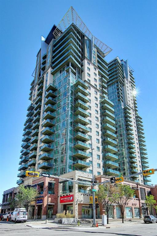 Fabulous unit on the 16th floor with STUNNING Panoramic views of the mountains and downtown. Conveniently located close to the LRT and Talisman center. Beautiful, upgraded unit includes maple cabinets,granite, stainless steel appliances, luxury�vinyl�floors, tile and floor to Ceiling windows. This unit has a walk-in coat closet with built in storage. A home office area has a granite counter. In suite laundry has more storage. Second Bedroom is generous and enjoys fabulous views. Walk-in closet with cheater door to bathroom with large walk in shower. Nicely appointed kitchen that opens to the dining and living room. Balcony is an extension for the living area. Great place to barbecue and enjoy the spectacular views. The living room is a comfortable place to watch TV and entertain guests. Master bedroom captures amazing views and has a walk through closet to 4 piece ensuite. Amenity center includes, exercise room, hot tub, dressing rooms w/sauna and gathering room and patio access. Assigned storage, 1 titled parking stall