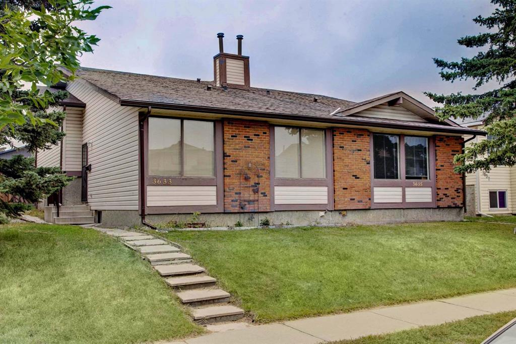 Attention Investors!  Positive cash flow is hard to find in the Calgary market, don?t miss this rare opportunity to own a lucrative multi-unit investment property.  This unit is a 4 level split with 3 bedrooms upstairs and 2 bathrooms.  Owner would like to sell both units of this duplex together so please also see the listing for the other side (Unit 3635).  Excellent tenants on both sides with fixed-term leases in place and interest to stay long term. The aspiring landlord?s rental income is de-risked and secure into the future. Property is easy to keep rented, located on Cedarille Drive,  is close to bus stops, schools, daycare, green space, and a convenient strip mall. Property is in good rental condition; clean and safe, with good bones. Increase your cap rate in the future with easy upgrades, or continue renting the property as is. Future Calgary ring road is adjacent to Cedarbrae just off Anderson Road, great for future commutes downtown.   See the attached feature sheet for more details on the unit and rental potential.