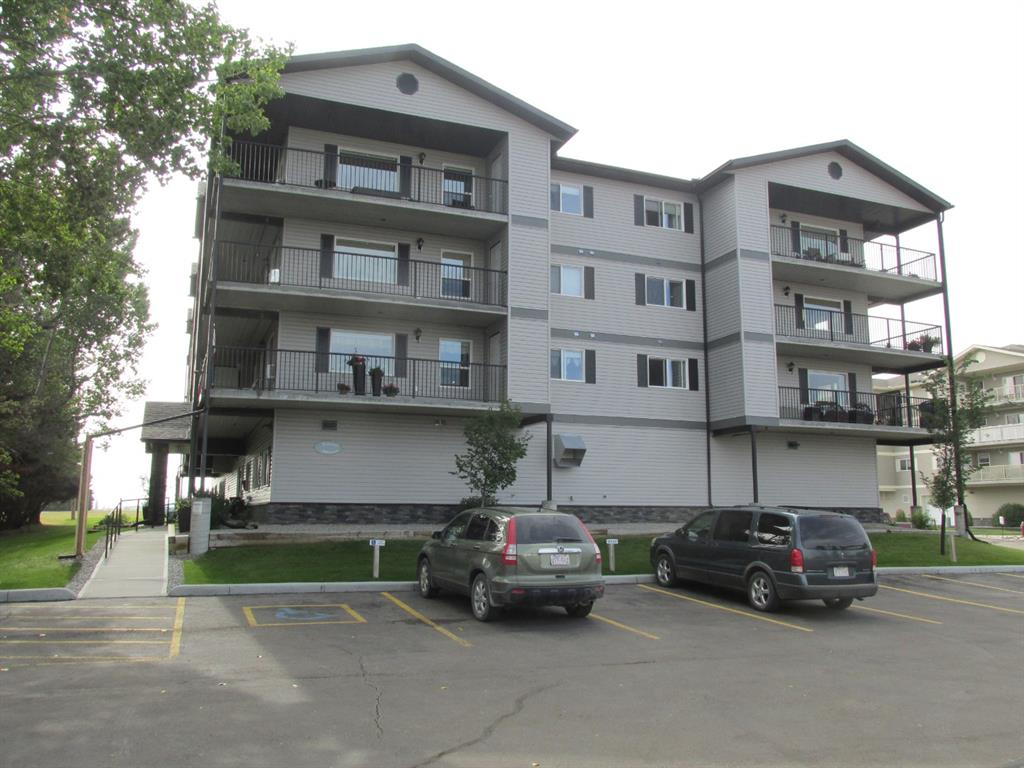 Affordable 45+ condo.Vacant and spotless for your immediate possession.2 bedrooms.Open kitchen /eating/livingroom area.Good sized balcony with storage at both ends.Underground heated parking stall.Stacking washer and dryer.Work out room and visiting areas .Walk to Tim Hortons for coffee and a visit .This is a no pet building.