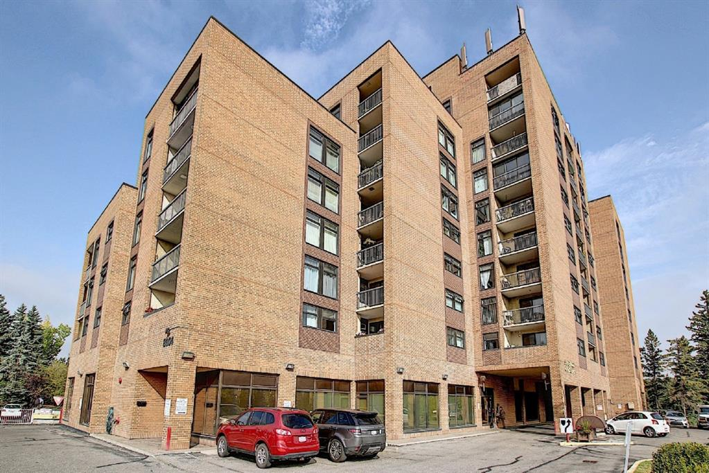 Amazing VALUE for this BEAUTIFULLY RENOVATED and fully FURNISHED condo in a concrete building. This BRIGHT and CHEERY unit has large windows allowing for plenty of natural light to flow through. You will love the large BALCONY! Updates include: GRANITE countertops, laminate floors, windows, interior doors, bathroom and more. There is also HEATED UNDERGROUND PARKING as well as many amenities including: a GYM, SAUNA, party/ games room, laundry on every floor (no charge). Condo fees include all utilities such as electricity, water, sewer and heat. Excellent location-STEPS to Bowness Park and RIVER pathways, easy access to downtown and highway heading west to the MOUNTAINS! Don?t miss out on this opportunity!