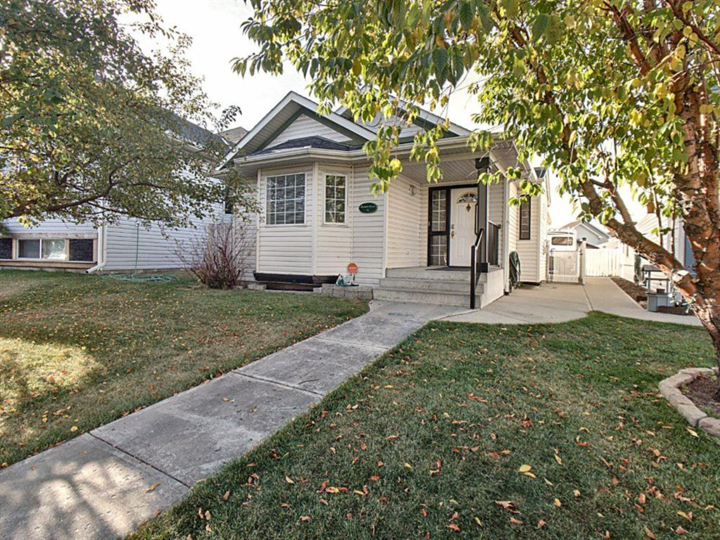 Amazing Bungalow in the desired Erin Woods community w/ plenty of schools, playgrounds, shops & close commute to Stoney & Deerfoot Trail. Custom designed w/ Wheelchair friendly features; Widened doors & hallways, lower counters & Handrails for your convenience. Main floor offers laminate, vaulted ceilings, nice size Den w/ built in desk, Master bedroom w/ double closets & 4pc ensuite. Gorgeous living room w/ gas fireplace along side large dining room & spacious kitchen w/ big corner pantry & white cabinetry. Basement is complete w/ huge family room w/ 2nd gas fireplace, 2 additional bedrooms (one with walk-in closet), 4pc bath w/ jacuzzi & features an abundance of storage room throughout. RV parking pad & oversized garage w/ lots of Cabinet space, equipped w/ a double & single garage door. Gorgeous back deck & large  walkway patio along the side & back. Gas hookup from house to garage.