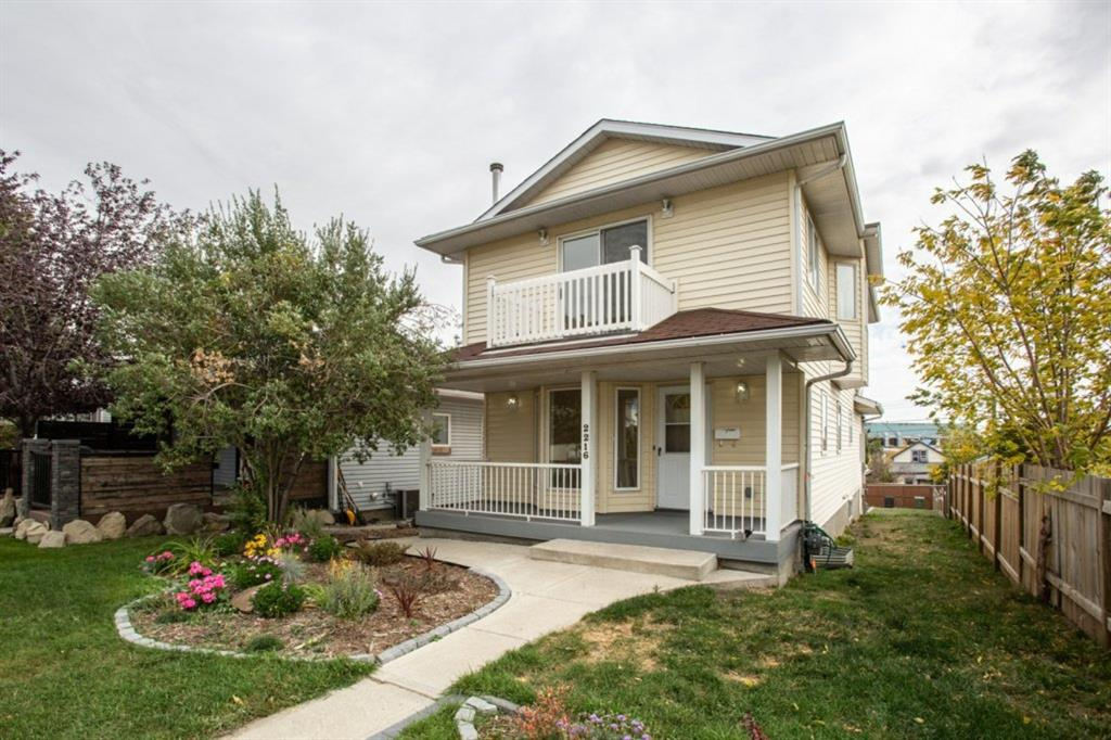 This 1994 built infill, with oversized lot,  is tucked away on a quiet side street in Ramsay. Ideal location for someone who is looking for walkability to Downtown Calgary, Scotsmans Ridge or the countless shops, restaurants and breweries surrounding this eclectic neighbourhood. This 3 bedroom, 2.5 bathroom home has been upgraded with new bathroom, carpet, paint and laminate flooring. The upper floor ,featuring laundry, is spacious and bright with the master boasting a west facing patio. The living room with gas fireplace and bay window that overlooks the front porch. The family room/ dining room is generous in size and leads to the efficiently designed kitchen and 4 piece bathroom. The lower level is finished with a 2 piece bathroom, extra large family room and another set of laundry hook ups. The backyard is low maintenance plus the bonus is the RV parking, oversize double garage with separate workshop. Great location in an amazing neighbourhood .