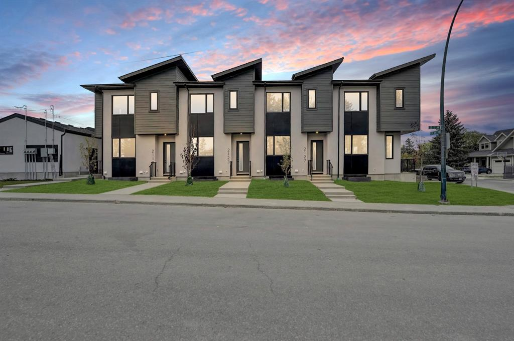 NO CONDO FEES FOR 1 YEAR AND ROOM TO PARK YOUR F-150 in this brand new townhome with views of Confederation Park. This thoughtfully designed unit has an open concept main floor with hardwood flooring, living room fireplace, eating area and a well appointed kitchen with s/s appliances, quartz counters including the large island and custom built cabinetry. Upstairs has laundry and 2  master bedrooms with  walk in closets and ensuites. The home is fully finished with a 3rd bedroom, 4 pc washroom and rec area in the basement. The units have fully fenced yards perfect for pets. The over sized garage fits full size trucks and room for storage. This unit is steps to Confederation Park on a quiet tree lined street in Capitol Hill. Close to SAIT, shopping  and tons more amenities.