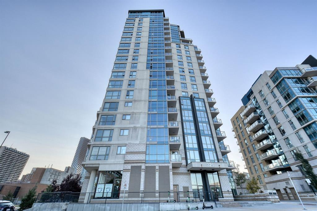 **  EXTREME VALUE IN THIS TOP FLOOR TWO STORY EAST VILLAGE RIVERFRONT PENTHOUSE CONDO WITH THREE BALCONIES TO TRULY APPRECIATE THE MILLION DOLLAR VIEWS!  The main balcony has the Hot Tub and more than enough room for ample patio furniture.  The views of the down town, centre street bridge, the Bow River & the Rockies are breathtaking.  Absolutely Perfect for Entertaining or to just enjoy your own personal heaven.  There?s Air Conditioning! The Master Bedroom has a huge walkin closet! The floor to ceiling windows throughout can only be described as stunning! The Kitchen has a Gas Stove & is excellent for those evenings where you want to cook a perfect dinner at home. The building has a fully equipped exercise room.  But Wait, There Is More!  In the underground parkade, there?s a fully secure enclosed 23 x 22 two car GARAGE to keep you cars safe!  There is a 3rd oversized stall available as well for negotiation.  This is a Must See!