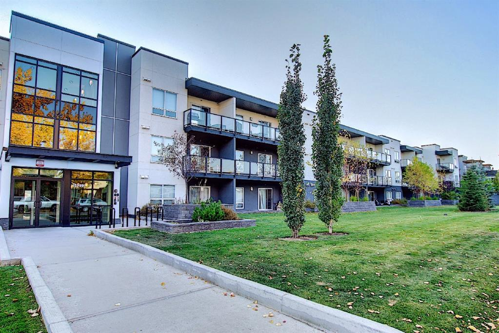 A great opportunity to own this newer modern condo in an established neighborhood. Located on a quiet street in Midnapore, but surrounded by amenities! Only 5-10 min walk to shops, restaurants, professional services, World Health Gym, Fish Creek Provincial Park, and so much more. Located within walking distance to two LRT stations, and quick access to major arterial routes. And yes, it also comes with LAKE PRIVILEGES! Lake fees are included in the condo fee. Living here you will enjoy quartz counter tops, stainless steel appliances, laminate flooring, the convenience of in-suite laundry, all in your bright and open main floor unit. Main floor living gives you great access to a private west facing deck perfect for BBQing or just letting in a nice breeze. Included is a titled underground parking stall & storage locker. Loads of street parking for your guests just outside the back door. Don?t miss out, there?s nothing else like it on the market at this price point