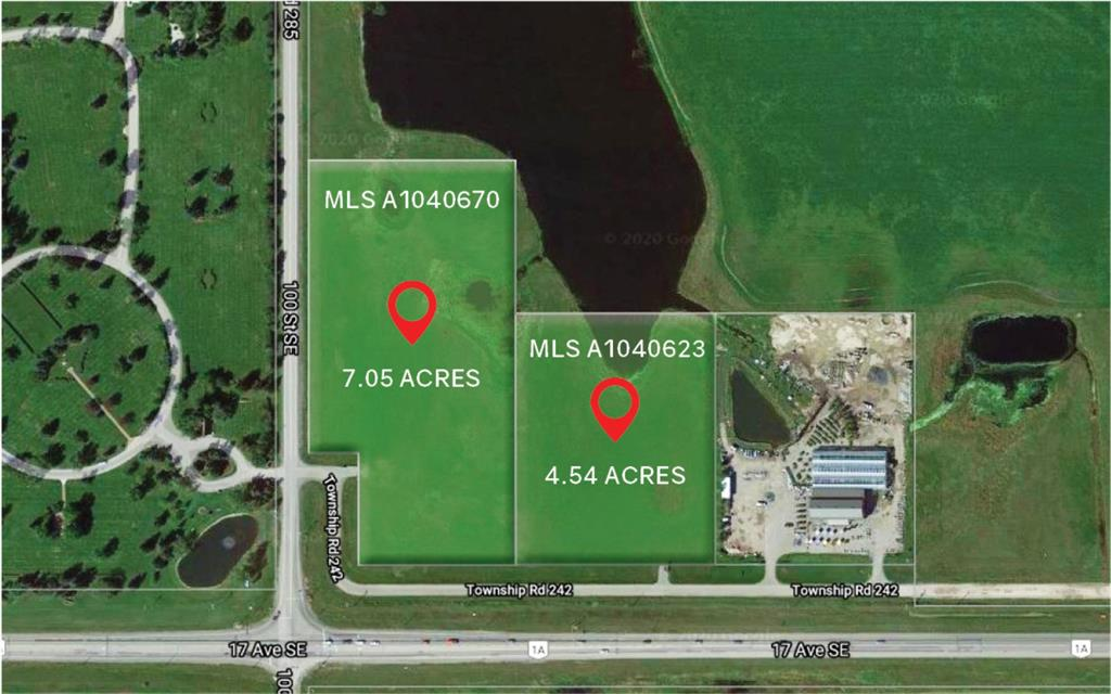 7.05 Acres located North Side of 17 Ave. SE Calgary between Calgary and Chestemere . parcel next door also listed MLS A1040623. Possible future commercial shopping center or gas bar.