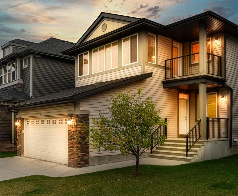 BEAUTIFUL HOME LOCATED IN THE HEART OF POPULAR AUBURN BAY. PRIDE OF OWNERSHIP THIS HOME FEATURES 9 FT MAIN FLOOR CEILINGS, FAMILY ROOM WITH GAS FIREPLACE, KITCHEN WITH ISLAND, GRANITE COUNTER TOPS, STAINLESS STEEL APPLIANCES, MAIN FLOOR OFFICE/DEN, MUDROOM WITH LAUNDRY, HARDWOOD AND TILE FLOORS, STAITCASE WITH MAPLE RAILING, UPPER LEVEL IS ALSO SPACIOUS, MASTER BEDROOM WITH ENSUITE, WALKIN CLOSET, TWO ADDITIONAL BEDROOMS, ONE ALSO WITH WI CLOSET, A HUGE BONUS ROOM WITH LOTS OF WINDOWS AND A WALKOUT COVERED BALCONY WITH RAILING. BASEMENT IS UNFINISHED WAITING FOR YOUR PERSONAL TOUCHES. THIS HOME IS VERY WELL KEPT. CALL FOR YOUR PRIVATE VIEWING TODAY.
