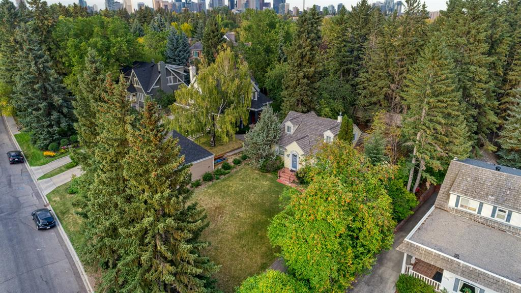 Development opportunity on a private set back location in desirable Mount Royal! Whether you're looking to hold as investment or build your dream home, this 70? X 160? sun filled lot is surrounded by lush greens, mature trees & great neighbours! This home is fully liveable while you wait for building permits. Close proximity to schools, parks, tennis, Glencoe Club, 17 ave, 4 st & downtown. Don?t Miss It!