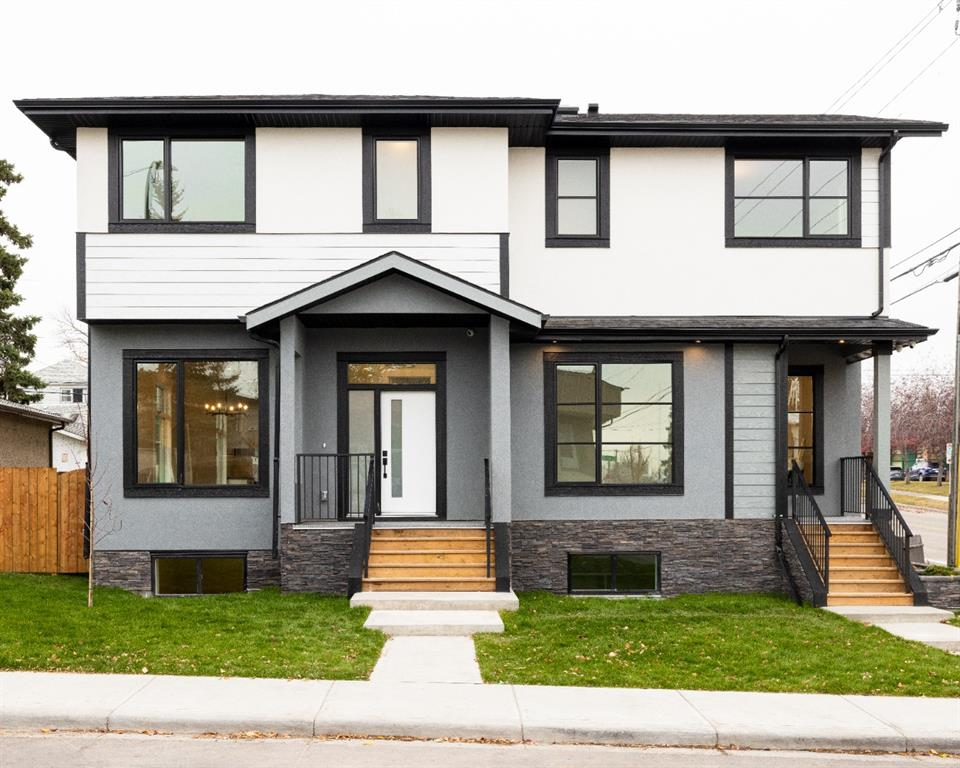OPEN HOUSE December 6th -1-4pm: BY APPOINTMENT ONLY! HUGE PRICE REDUCTION! Welcome to this  incredible, custom built home, by BAM Builders.  (All photos and virtual tour videos are from the next door unit #404, which is almost identical to this home.)   Upon stepping inside this semi detached home, you will notice the quality of the finishes.  White Oak floors,  quartz counter tops, SS steel appliances and amazing designer lighting.  This open concept floor plan is ideal for entertaining or hanging out with the family.  One of the most thoughtful features to the main floor, is the front office, that is ideal for working at home. Not only can you shut the door for privacy, but the amount of sunlight in this office space, might just put a smile on your face. The large windows in this home allow for a lot of natural light to stream in, no matter what time of the day.   The natural light continues upstairs to all the bedrooms and even the laundry room.  The master suite has built in shelves, a massive walk in closet and of course the spa like en-suite with walk in shower.  The lower level is the perfect place for a movie night, a game of pool or even a kids sleep over, as this large space is equipped with a wet bar, with custom built ins and a beverage fridge, plus a large guest bedroom and a huge walk in closet.   This home has a ton of upgrades, solid core doors,  air conditioning,  9 foot ceilings,  wired for security, custom cabinets and a very functional floor plan.  Perfect for a new home buyer or a family. This home is centrally located, walking distance to Chinook Mall, Britannia shopping center, Macleod Trail amenities  and many fabulous schools.  Book your showing today!