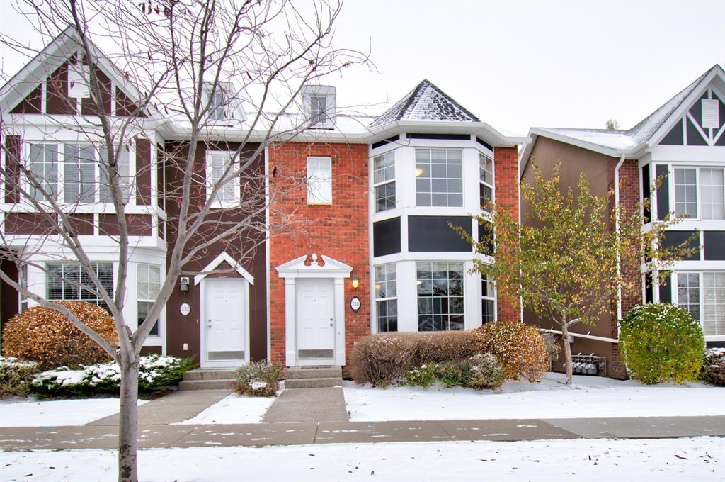 Boasting terrific curb appeal  and backing onto a school green space, this 2 storey townhouse is a perfect situation for the first time home buyer or investor.  The entire main floor has 9 foot ceilings giving it an even larger feel. Kitchen includes tasteful black appliances,  plenty of cupboard space, corner pantry, and center island making food preparation a breeze. The open concept living and dining areas are perfect for entertaining. Upper level includes 2 generous sized bedrooms with each having its very own ensuite. Awesome development opportunities in the unspoiled basement which has loads of space and is roughed in for an additional bathroom. Enjoy a BBQ in the west facing backyard. There is even a double garage to keep your vehicles warm during winter months. Close the the rink, golf course, lake and all of the shopping you will need. Getting more for less in Chestermere in exchange for a short commute. Now is the time to look at moving into this great community.