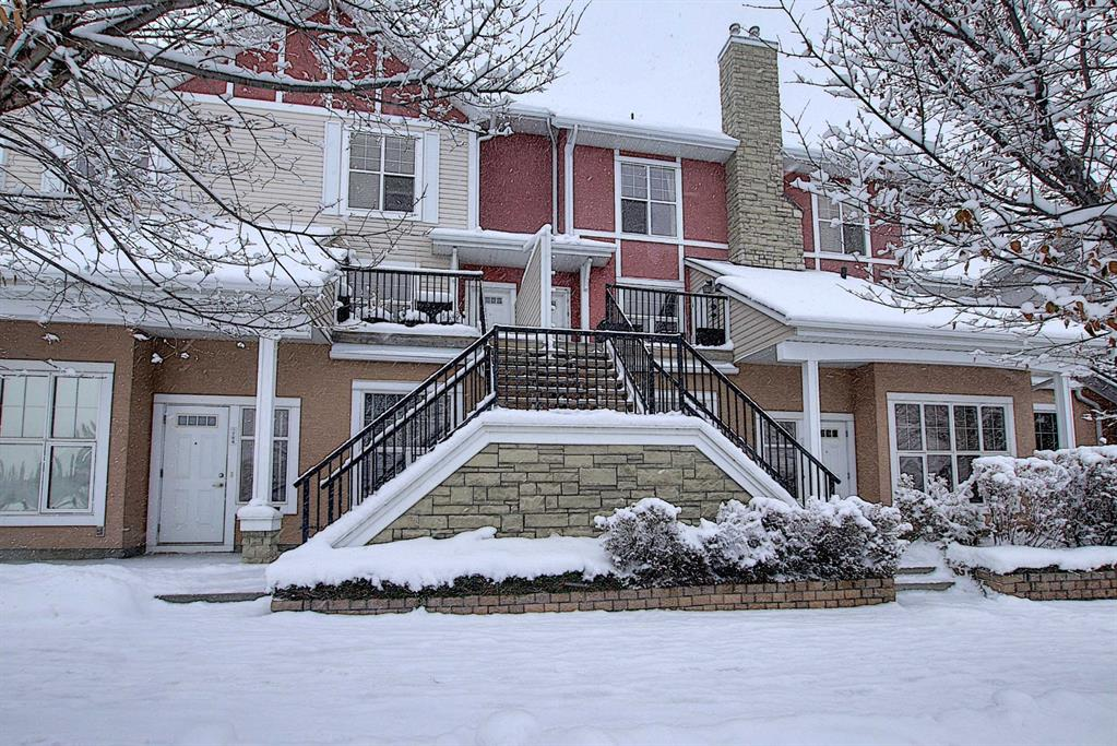 JUST LISTED $319,900! This is ONE OF THE BEST PRICED TOWNHOMES IN ALL OF WEST SPRINGS! MAJESTIC MOUNTAIN VIEWS, CONVENIENTLY LOCATED TO TRANSIT, SHOPPING, and WALKING DISTANCE TO GREAT PUBLIC AND PRIVATE SCHOOLS! 768 73 ST SW Calgary. BEAUTIFUL COURTYARD, WATER POND, TREES, and landscaping throughout the complex. This amazing fully developed WEST FACING 2 STOREY has 1183 SQ FT of immaculate living space. WIDE OPEN FLOOR PLAN with HUGE WINDOWS, HIGH 9? CEILINGS on both the main and upper levels, MAPLE HARDWOOD FLOORING, kitchen with tons of BEAUTIFUL CEILING HEIGHT CABINETRY, STAINLESS STEEL APPLIANCES, and GRANITE COUNTERTOPS. Large cozy great room and quick access to a CONVENIENT DECK FOR BBQING. Upstairs are 2 LARGE MASTER BEDROOMS EACH WITH THEIR OWN PRIVATE EN-SUITE. THE ATTACHED GARAGE IS INSULATED with an EXTRA PARKING SPOT ON THE DRIVEWAY and PLENTY OF VISITOR PARKING! LOOKING FOR THAT PERFECT COMMUNITY AT A VERY AFFORDABLE PRICE, THIS IS IT!