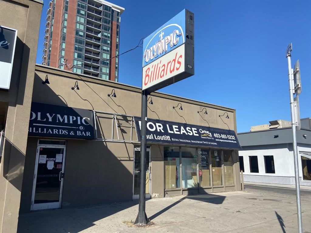 3,472 sq ft of main floor retail. High exposure retail opportunity on the Sunshine side of busy 17 Avenue SW. Operated as a convenience store for many years, use could be continued or changed to any retail use, below market Gross Lease plus utilities, great draw from surrounding area. Highly visible signage available. Offered at below market Gross rental rate