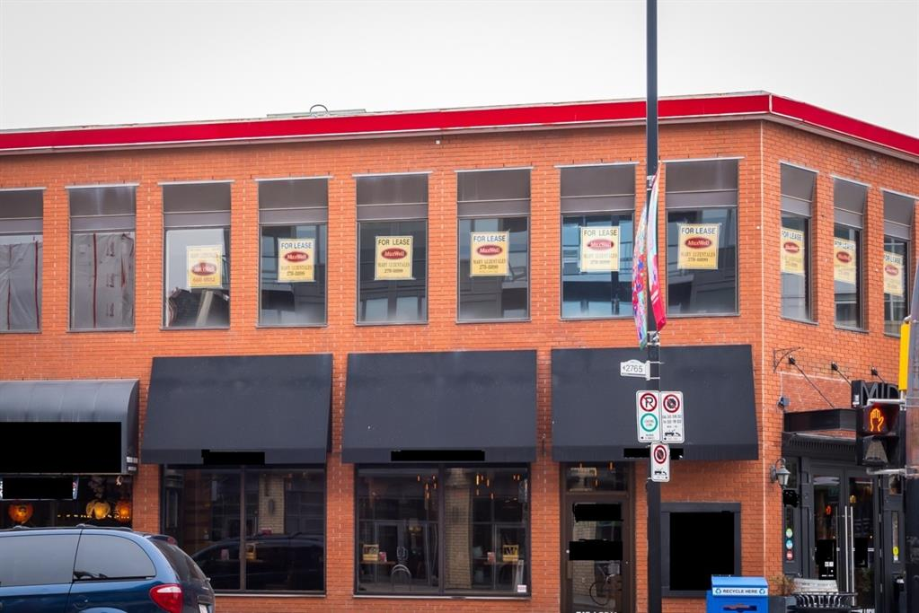 KENSINGTON opportunity for single user to occupy the whole 2nd floor, approximately 3,932 sq. ft. Exterior signage maybe possible.  Excellent for Professional Office. One parking stall included.  Great corner exposure to busy 10th Street and 2nd Ave. N.W.  Minutes to LRT and Downtown.
