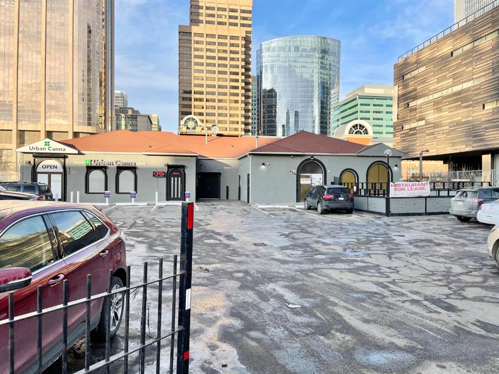 This is a former restaurant space with hood fan and refrigeration still in the space, but it could be converted to any sort of use. There is a full basement as well, which is finished with a small office. There is Paid parking lot out front, but arrangements could be made for dedicated tenant spots and lots of street parking out front.