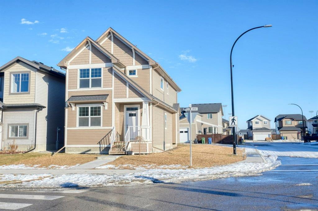 Amazing value for this Beautiful home on corner lot in The Willows. This community nestled next to the Bow River has access to 19 km of pathways, 4 playgrounds, preserved wetlands, 2 schools (1 k-8, 1 high school) all within walking distance. The OPEN concept and lots of windows allow for plenty of natural light to flow through making it BRIGHT and CHEERY! The spacious kitchen comes complete with a a large ISLAND, GRANITE countertops, STAINLESS STEEL appliances and also a pantry. There is also a large dining area and living room with a cozy FIREPLACE and FLEX option with the front room ( perfect for a den, kids pay room , bedroom etc..). Upstairs there are 3 bedrooms including a master with a full ENSUITE and walk-in closet, another bathroom and Laundry room! The basement has LARGE windows and roughed in plumbing ready for your personal touch. The backyard is spacious, there is a parking pad and plenty of room to build a large garage. This home could be yours for the holidays!