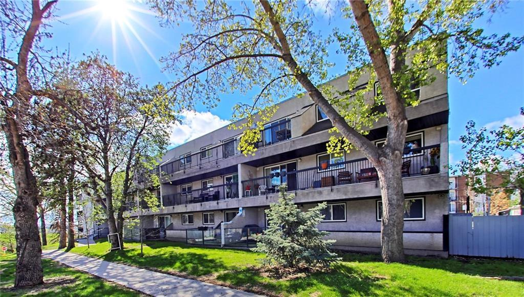 An amazing location & an enjoyable walk to downtown through the river valley from this fully renovated 2 bedroom, top floor corner condo in Crescent Heights! New, larger 2 entryway balcony, newly installed wide plank hardwood floors, (see before & after pics), open design, shakers-style maple kitchen with sit-up island & granite counters. Black updated appliances, cozy fireplace surrounded by built-in cabinetry w/ over 800 sq ft of living area + NEW, larger balcony. Large bedrooms, great layout, modern colors, knockdown ceilings, large bathroom w/ corner tub + washer/dryer & ample interior storage room + additional storage underground with your personal assigned parking space. The only top-level unit available & serious pride of ownership is obvious. Great building, healthy reserve fund & a quiet, well-managed building, situated in a trendy, lively, quiet area w/ great restaurants, pubs all amenities...New exterior & balconies. A must-see for singles & couples. All reno assessments paid- No more assessment, as all are just paid by the seller!