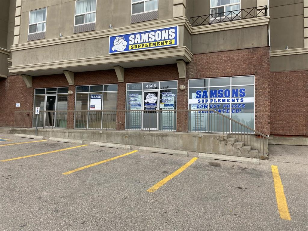 **FREE First 2-Month Net Rent** **PRIME commercial retail location with exposure to Macleod Trail** Welcome to this main floor end cap unit with large windows and parking directly in front. Handicap access. 1,307 SF with high ceiling. Many retail business possibilities including, health services, medical / vet clinic, professional office, quick serve food service, vehicle rental, etc. 5 ? 10 year lease. NO liquor store, restaurant with kitchen, pet store and cannabis. Please do not approach location directly or bother staff at Comfort Inn, tours by appointment only.