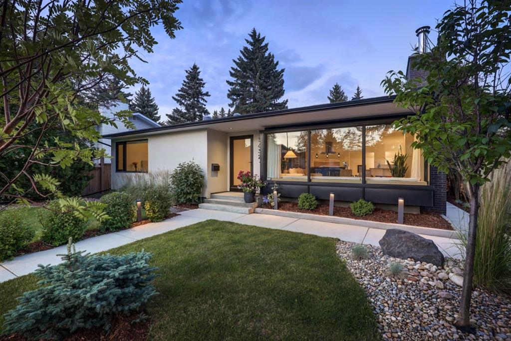 Welcome to ?Luxury Living? in University Heights. This European inspired architect led design brings modern sophistication into quiet NW inner city community living. The intelligent design provides smart & distinctive spaces for all the needs of a growing family, impressive indoor & outdoor entertaining, and throwing your feet up to enjoy the quieter moments life grants us. Anchoring the open concept main floor is the gourmet kitchen which overlooks both the front living and dining rooms. Some of its features include granite countertops, with custom walnut eat-up counter, panelled refrigerator, high end appliances, and exceptional storage while maintaining clean site lines and an open and airy feel. The living room windows wrap the front west corner of the home and leads your eye out to the greenery beyond. Its integrated bench seating is clad in a beautiful blonde wood frame, providing the perfect rest & relax location.  The dining room is a true work of art with slated wood details and a heated polished concrete floor flanked on both sides with full width sliding doors leading out to the grandly landscaped outdoor areas. The back of the home features an oversized double attached garage with a lift for a third vehicle, extra storage space, a mud room, and a half bath. Completing the main floor are 2 bedrooms and a lux main bath plus a large master bedroom with its own spacious en-suite. The basement offers more wonderful living space including a theatre room with expansive bar area, enormous wine cellar fridge, and reading nook. Beyond are a bedroom, office, full bathroom, and laundry room and if you need a fifth bedroom the office can easily be converted. This home expertly blends mid century modern aesthetic with contemporary design and all of the function a modern family needs. This is a truly artistic home that you will love living in in a community that can?t be beat.