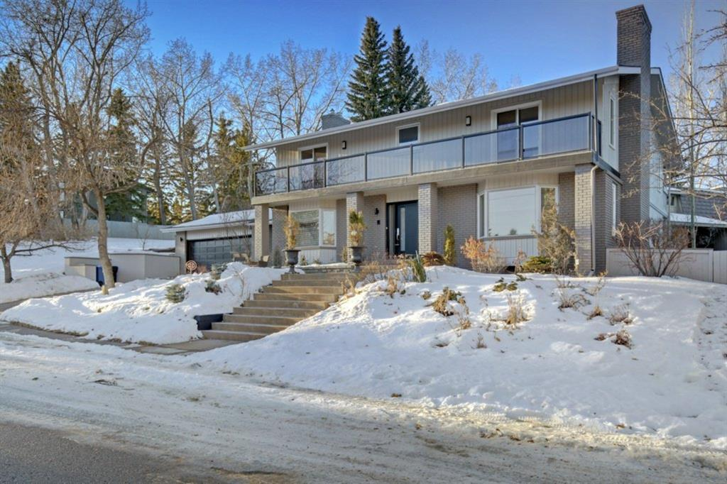 Executive living siding greenspace in prestigious Pump Hill.  Elegant floorplan ideal for entertaining or family living. Gracious entry with access to spacious Family and Living rooms, both with gas fireplaces. Renovated Chef's kitchen with high end appliances consisting of Viking, Thermador and Bosch,  solid wood cabinets, granite counters, huge island and large eating area with access to private yard and beautiful landscaping. On the upper level you will find four large bedrooms, all with access to upper balconies. Huge Master bedroom with spa like ensuite including separate shower and stand alone soaker tub. Two more full bathrooms, recently renovated and with Rain Shower, complete the upper floor. A total of 4 full bathrooms and 2 powder rooms. Lower level is finished with spacious rec room with fireplace, large gym area, wine room, laundry and plenty of storage. Fabulous quiet location siding greenspace and opening to park, professionally landscaped with flowering perennials and shrubs front and back, close to schools including the GATE program, Southland Leisure Center, Glenmore Reservoir, shopping and easy access to surrounding city amenities.  Recently painted , both interior and exterior, high efficient furnaces, high end fixtures throughout (Grohe & Hansgrohe), Malarkey Legacy hail resistant shingles and Luxurious New Zealand Wool Carpeting. All that is left is to enjoy the serenity!