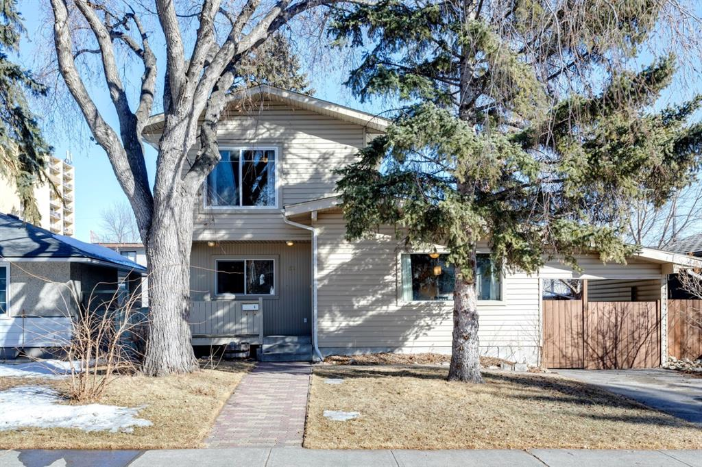 **RARE TWO STOREY HOME IN KINGSLAND!** Almost 1500 sq ft above grade and another 841 sq ft finished in the basement. INCOME SUITE (illegal) in the basement is a wonderful mortgage helper. Majour reno done in 2004 resulting in adding a second story master suite, updated to 2x6 walls throughout, R20 insulation, upper roof shingles (2020), garage and lower roof shingles (2016). MASTER SUITE located on the second floor with spacious bedroom and large 4 pc bath with soaker tub and large glass shower. CHEF'S KITCHEN with maple cabinets, gas stove and built in breakfast bar. VAULTED CEILINGS in the living room, partnered with a FLOOR-TO-CEILING STONE FIREPLACE makes this the best room in the house. HARDWOOD FLOORS JUST REFINISHED. TWO ADDITIONAL BEDROOMS ON THE MAIN LEVEL. Three full baths. Double detached garage and single carport for parking. **BONUS TO HAVE AN INCOME SUITE (illegal suite) IN THE BASEMENT WITH A FULL KITCHEN.** Rent is estimated at $1000/month. This home is perfect for some one looking for INNER-CITY LIVING NEAR ALL AMENITIES, with parks and schools nearby. Vacant and available for a short closing! WELCOME HOME!