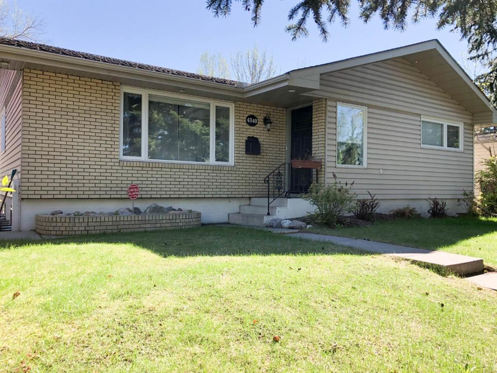 Outstanding Bungalow , built by Nu-West Home , beautiful brick flower bed at the front , over 1225 sq.ft  great location  with treed street, NO through traffic , a short walking distance to Brentwood LRT station, library, Brentwood sportsplex, all levels of school, U of C, shopping, bus stop  & easy access to highway. Tons of upgrades in the last few years-- windows, interior painting, kitchens, appliances, bathrooms, flooring, light fixture, electrical panel box & more....  Functional floor plan on main floor comes with stacked-up washer/dryer, triple pane window (2018), gleaming hardwood floor, master bedroom has 2- pce ensuite, other two bedrooms are all good sized.  Upgraded kitchen--island with breakfast bar, ample solid oak cabinets & modern appliances.  New developed basement, cost over $65,000 for renovation....offers five egress windows, 2 extra bedrooms,  den/office, one of the bedrooms with extra soundproof ceiling insulation, 1-3 pce bathroom, extra set of washer and dryer, bright and large family room with second kitchen and eating area. Flat, fenced backyard with concrete patio.  Double insulated oversize detached garage.  Excellent value in this area ...