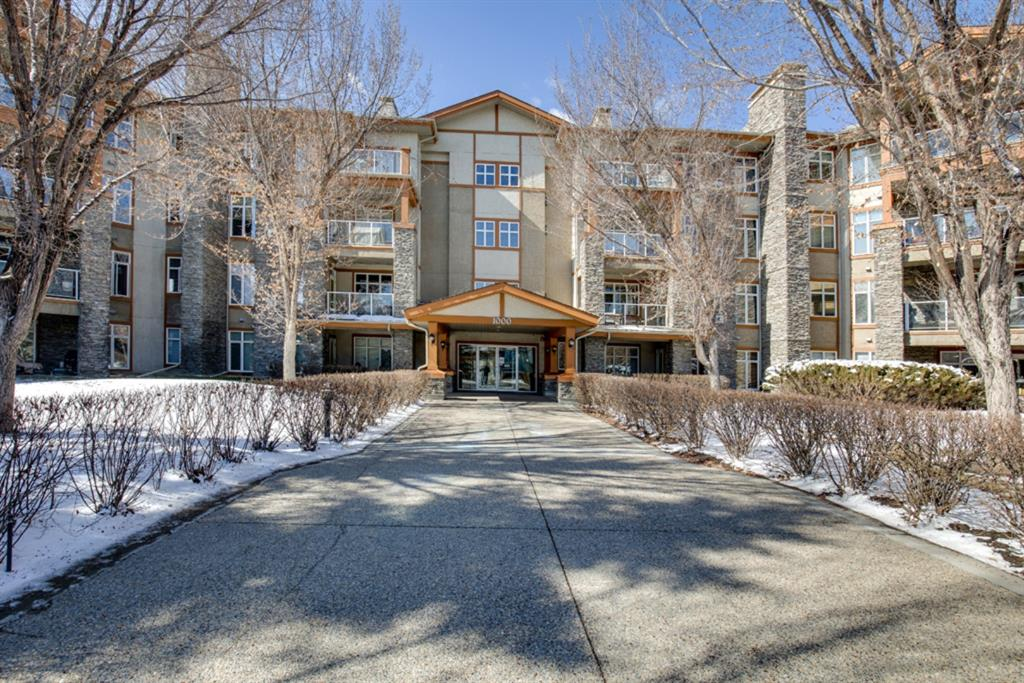 Looking for a 1 BEDROOM, 1.5 BATHROOM, that boast newer vinyl planking throughout?  A unit that overlooks mature trees, and enjoys the peace and quiet in the area.  Then come take a look in prestigious Bonavista Estates I.  With an open concept floor plan the well thought out kitchen (with eating island) overlooks your spacious dining & living room with gas fireplace. The spacious BEDROOM has double walk through closets & a full 3 piece en-suite with a walk in SHOWER.  The in-suite LAUNDRY has full size WASHER & DRYER and a half bath for guests. Also includes 1 titled underground stall and a large assigned storage locker. Amenities include a clubhouse, 24 seat theatre, 2 car wash bays, exercise room & 2 guest suites. Walking distance to local shopping, restaurants, LRT, library & South Centre Mall.  This  gated complex that provides a safe & secure environment. This apartment is bright, spacious and waiting for its new owner to call this home.