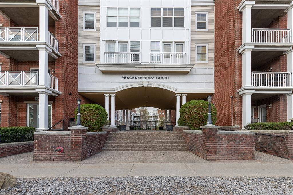 TOP FLOOR UNIT   FRESHLY PAINTED   PRIVATE BALCONY   Welcome to this cozy 2 BEDROOM + DEN top floor unit featuring 2 full bathrooms, and a bright and clean living space. The building features plenty of amenities including a top-of-the-line gym. Walk inside to your BRIGHT living area, with a balcony perfect for summer days, with a BBQ gas hookup. A cozy DEN is tucked away nicely by the master bedroom, and can be used as an office, workout space, or whatever you decide ! The master bedroom features a walk-through closet into the EN-SUITE bathroom, with a double vanity and a stand-up shower. The second bedroom can be used as a guest room or extra living space. A kitchen with ample cabinetry and second full bathroom complete the space. Close to Mount Royal University,  Glenmore, parks, and other amenities. Includes a parking stall. Freshly painted, and ready to move in !