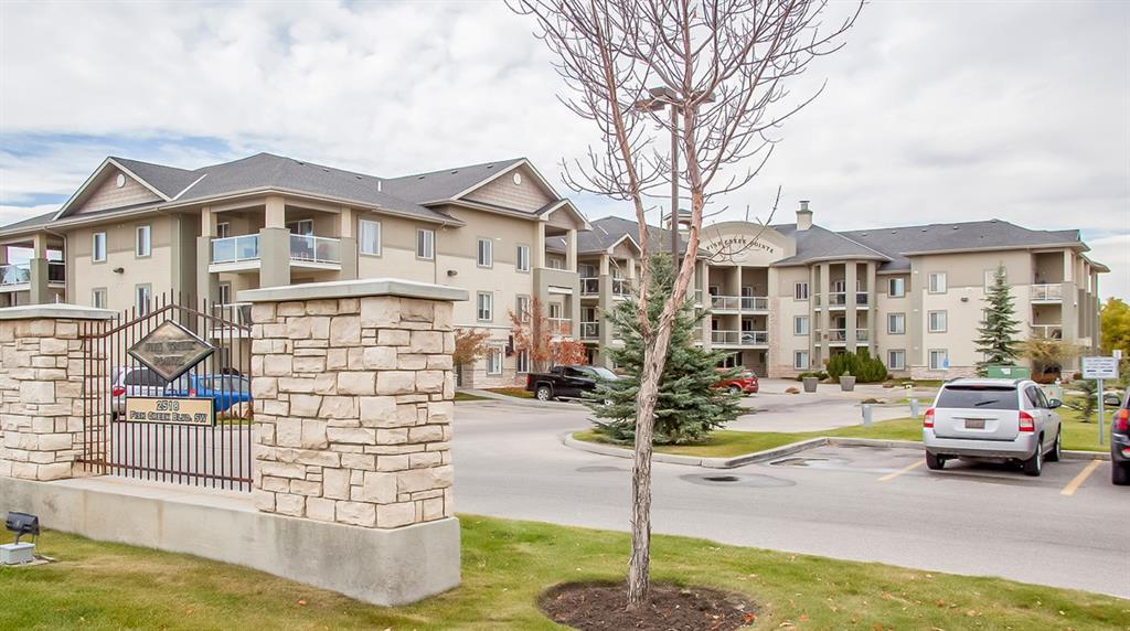 Welcome to an affordable 2 bedroom/2 full bathroom apartment condo located right on the border of the beautiful Fish Creek Park! Whether you are a first time home buyer, a young family, or an investor - you must look at this property. Located on the second floor, this spacious unit (just just shy of 850 sq.ft) comes with a balcony, TITLED UNDERGROUND parking, in suite laundry and offers an open layout. Walking distance to schools and the park! The bus stop is just across the road with bus service to Somerset/Bridlewood Station. Super easy access to the Ring Road, the new Costco and a large shopping plaza (YMCA, Home Depot, Superstore, etc). The building is well maintained, and the lobby and hallways have been recently updated. Come and view NOW!