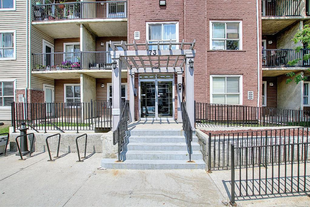 GREAT location with easy access to Peigan Trail, Stony Trail and Deerfoot Trail.  15 minutes to down town. Close to schools, parks, playgrounds, city transit and shopping. First time home buyers or investors Nice quiet unit in a CONCRETE Building with in-floor heating. 1 bed, 1 bath with new carpet, new paint and new quartz counter tops. 9' Ceilings. In-Suite laundry.  Titled underground parking and plenty of visitor parking. Condo fees include heat, electricity & sewer & water. The condo corporation is well managed and has a healthy reserve fund.