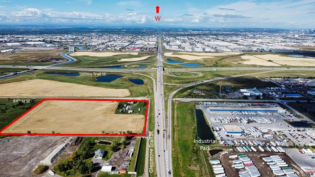 Zoned S-FUD (Special Purpose Future Urban Development). This property is located in close proximity to the important CANAMEX corridor which connects Canada, United States and Mexico through Queen Elizabeth II Highway (Deerfoot Trail), and quick easy access to the Glenmore/Stoney Trail Interchange and Trans Canada Hwy.  Industrial development in this area represents logical and contiguous growth from the Calgary Southeast Industrial area.  Situated in the Shepard Industrial Park district in the SE quadrant of the City of Calgary; the area is bounded by Glenmore Trail SE to the north, the Transportation and Utility Corridor (TUC), the Canadian Pacific Railway rail line to the south and Range Road 284 to the east.   This area is intended to provide a broad range of business and industrial uses.