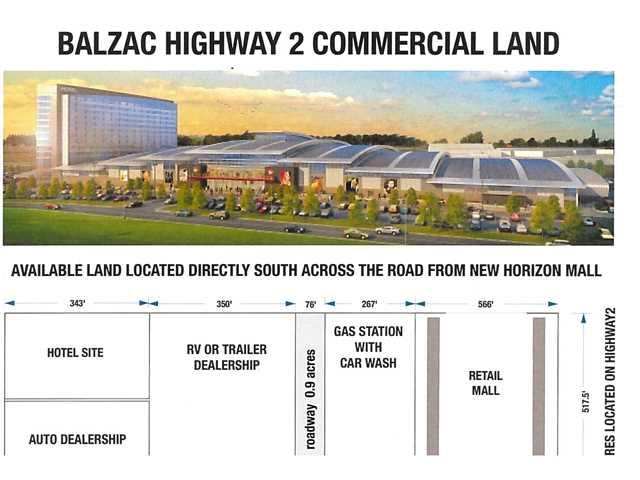 17.95 acres adjacent to CrossIron Mills, next to New Horizons Mall. Possible uses include Motel, Equipment, Automotive or RV Dealership, Tire Shop, Liquor Store, Bottle Depot. Ideal holding property or development as future mall. Direct Highway visibility. Owner will consider long term lease 17.75 acres across the road from New Horizon Mall. Ideal for Shopping centre, Hotel, Car or RV Dealership. Direct Highway Visibility.