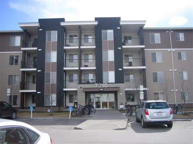 REDUCED 10K FOR QUICK SALE !!!Great Location across from tim Horton strip Mall. Walk to L.R.T. Schools On 80th ave n.e. in Saddleridge  this 812 sqfeet includes  balcony. top floor unit with Two bedrooms Two washrooms and a den plus en-suite laundrey,black appliances,upgraded marble counter tops , and south  exposure with all day sunshine through the windows and balcony.elavators to titled parking underground heated .very good starter home no more renting. own  your own !!Freshley  painted and new blinds.