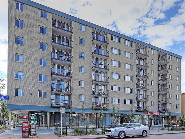 If you have been waiting for the perfect 1 bedroom condo to come on the market look no further. This stylish 1 bedroom is sure to please with its open concept, bright airy feel, and updated look. This corner unit condo offers a neutral colour pallet for all tastes, in-suite laundry, a good sized kitchen, an island with seating for 3 or more, a bedroom separated from the main living space by beautiful French doors, sunny South facing balcony, and a titled underground parking space. If you want the furniture that could be negotiated as well. Located in the heart of Cliff Bungalow and bordering Mission this condo is walking distance to everything fabulous Calgary has to offer. With a walkscore of 95 (yes you read that right) it doesn't get much better than this. All desirable amenities are just steps away including groceries, countless restaurants, doctors? offices, yoga studios, shopping, banking and all that trendy 4th St and 17th Ave have to offer. Call your favourite Realtor to arrange a showing today!