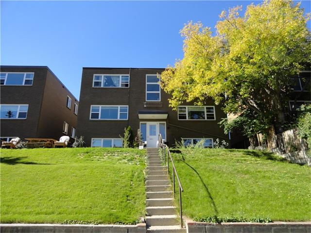 Heart of Bankview! Close to downtown and all amenities, this 2 bedroom TOP floor unit features original hardwood floors, a large living and dining room, kitchen, and a 4 piece bathroom. This property needs some TLC.