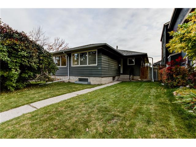 The west side of this duplex has a spacious two bedroom home with eat-in kitchen, and large north-facing living room up. Original hardwood in excellent condition throughout. Basement is fully developed with a livingroom, office area, bathroom and large main bedroom and full-size laundry.Home is located beside a soccer pitch and playground with skating rink in winter. Two blocks to River Park and only four blocks to the elementary school.  Excellent revenue property or hold for development. The attached home is also for sale (C4085489). Purchase both sides for approx 55 feet of frontage!